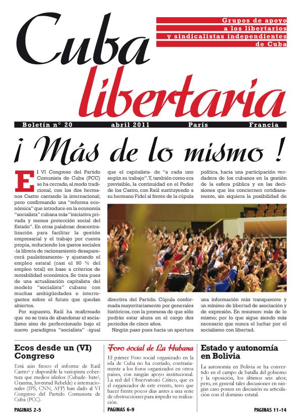 Cuba Libertaria CL20