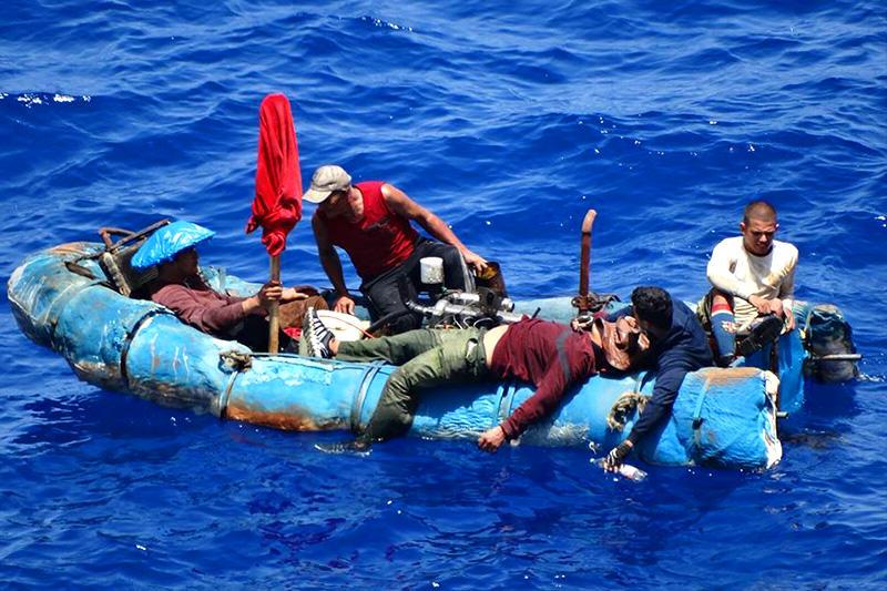 Balseros,Cubanos,rescatados,sin vida