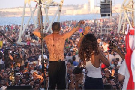 Le groupe portoricain Calle 13 à La Havane en avril 2010